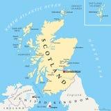 De onafhankelijke Politieke Kaart van Schotland Royalty-vrije Stock Fotografie