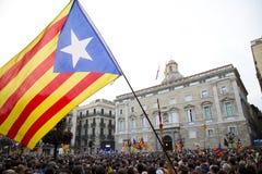 De Onafhankelijkheid van Catalonië stock fotografie