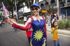 De Onafhankelijkheid van Maleisië Dag zevenenvijftigste stock afbeelding