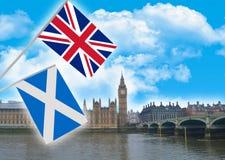 De onafhankelijkheid van Schotland stock foto's