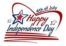 De Onafhankelijkheidsdag van de V.S. het van letters voorzien kaartontwerp Royalty-vrije Stock Afbeelding