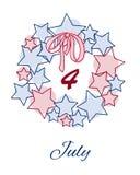 De Onafhankelijkheidsdag van de V 4 van Juli Stock Foto