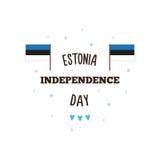 De Onafhankelijkheidsdag van Estland Vector illustratie Stock Afbeeldingen