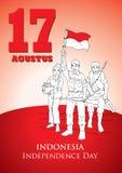 DE ONAFHANKELIJKHEIDSdag VAN INDONESIË Stock Afbeelding