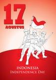 DE ONAFHANKELIJKHEIDSdag VAN INDONESIË Stock Fotografie