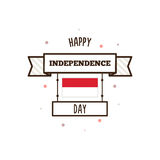 DE ONAFHANKELIJKHEIDSdag VAN INDONESIË Vector illustratie Stock Afbeelding