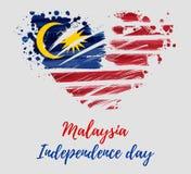 De Onafhankelijkheidsdag van Maleisië - Hari Merdeka-vakantie royalty-vrije illustratie