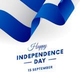 De onafhankelijkheidsdag van Nicaragua 15 September Golvende Vlag Vector royalty-vrije illustratie