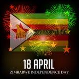 De onafhankelijkheidsdag van Zimbabwe Royalty-vrije Stock Afbeeldingen