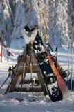 De onderbreking van de ski Stock Fotografie
