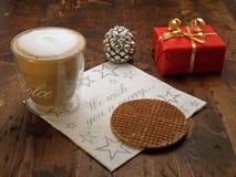 De onderbreking van Kerstmis coffe Royalty-vrije Stock Afbeeldingen