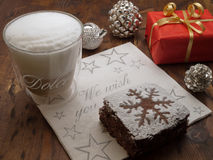 De onderbreking van Kerstmis coffe Royalty-vrije Stock Fotografie