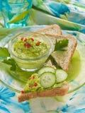 De onderdompeling van de avocado stock foto's