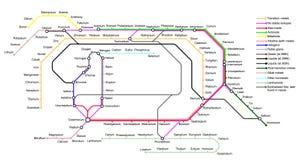 De Ondergrondse Kaart van de Elementen Stock Afbeeldingen