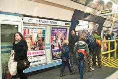 De ondergrondse post van de Stad van Camden Royalty-vrije Stock Foto