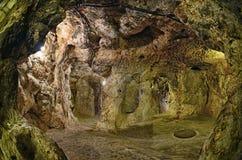 De ondergrondse stad van het Derinkuyuhol, Cappadocia Stock Foto's