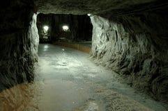 De ondergrondse zoute mijn van Praid, Roemenië Royalty-vrije Stock Afbeelding