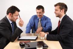 De onderhandelingen van het contract stock foto's