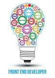 De onderling verbonden gekleurde toestellen van de vooreindtechnologie royalty-vrije illustratie