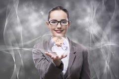 De onderneemster in globaal bedrijfsconcept Royalty-vrije Stock Afbeeldingen