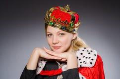 De onderneemster van de vrouwenkoningin Stock Afbeeldingen