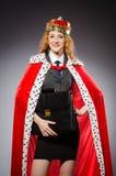 De onderneemster van de vrouwenkoningin Stock Foto