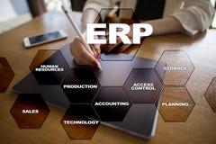 De onderneming van middelen voorziet planningszaken en technologieconcept Stock Afbeelding