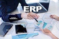 De onderneming van middelen voorziet planningszaken en technologieconcept Stock Foto