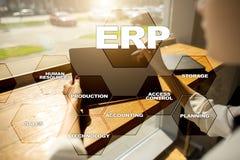 De onderneming van middelen voorziet planningszaken en technologieconcept Stock Foto's