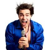 De onderschrijvingsslip van de karaoke stock fotografie