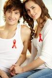 De ondersteunende campagne van AIDS Stock Foto