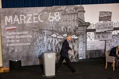 De Ondervoorzitter van maart ` 68 van de Raad van Ministers, Minister van Wetenschap en Hoger onderwijs - Jaroslaw Gowin Stock Foto
