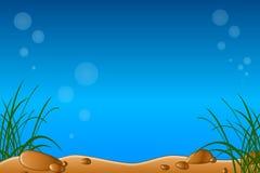 De onderwater of Scène van het Aquarium stock illustratie
