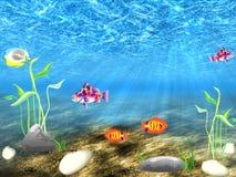De onderwaterwereld Stock Afbeeldingen
