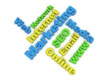 De onderwerpen van de marketing vector illustratie
