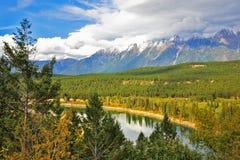 De ondiepe rivier in Yellowstone Stock Foto