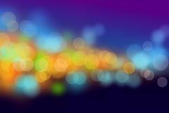 De onduidelijke beeldenachtergrond van de nachtscène bokeh Stock Foto