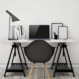 De onechte omhoog moderne spot van het werkruimtemalplaatje op achtergrond vector illustratie