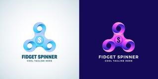 De oneindige Lijnen friemelen Spinner Abstract Vectorteken, Embleem of Logo Template Modern Gradiënt Creatief Concept Royalty-vrije Stock Foto