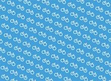 De oneindige vector van het fietspatroon royalty-vrije illustratie