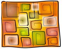 De oneven Vierkante Achtergrond van Spiralen vector illustratie