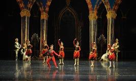 De ongehoorzame Nar de team-prins van bar het mitzvah-derde handeling-ballet Zwaanmeer stock foto's
