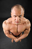 De ongeklede bodybuilder bekijkt camera Royalty-vrije Stock Foto