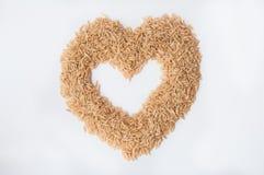 De ongepelde rijst van de liefde Royalty-vrije Stock Foto