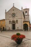 De ongeschikte kathedraal van Norcia Stock Foto