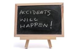 De ongevallen zullen gebeuren royalty-vrije stock afbeeldingen