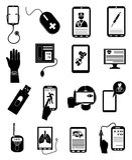 De online geplaatste pictogrammen van de gezondheidszorg medische dienst Stock Foto's