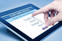De online klantendienst Stock Foto's