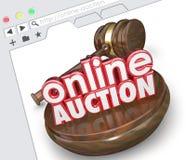 De online Online Markt die van Internet van de Veilingswebsite Selli bieden Stock Foto
