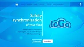 De online pagina van de gegevensbeveiligingwebsite royalty-vrije illustratie